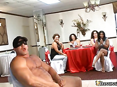 Light haired odorous bitches are behaving brutally during the blowjob