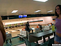 Look at how unrestricted these babes are to have sex right in the bowling