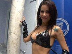 Latin girl rocker takes it anal
