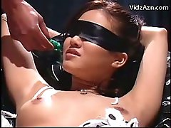 Blindfolded Girl In Bondage Squirting While Getting Her Pussy Fingered