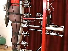 Slave testing the new torture machine!