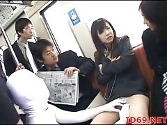 Japanese teen fucked in train