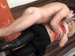 Sexy mature mom fucking her son's friend cock.