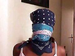 Doren2 - Roped ebony girl ready for little fetish home video