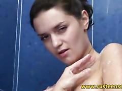 Legal Age Teenager shower masturbation