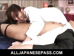 Asami Yoshikawa Seductive Japanese model rides a huge shlong