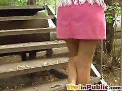 Pink pee-wet petticoat