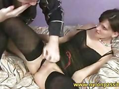 Sex in black nylons