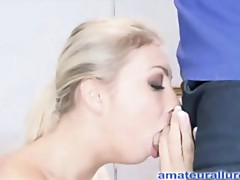 Merry Legal Age Teenager Secretary Unfathomable Mouths Pecker