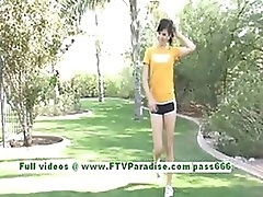 Smoking Hot Brunette Teen Strips From Her Sporty Outfit Outdoors