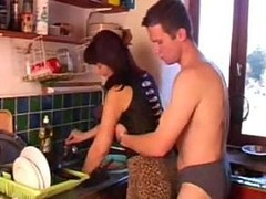 Chap desires his mom in the kitchen