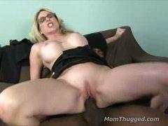 Milf riding on big black cock after divorcing